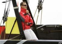 Schumi off the wheel, turns sailor