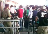 Indian airline ground staff on strike
