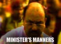 Minister 'pushes' woman| <a href='http://www.ibnlive.com/news/impact-bihar-minister-in-soup/43003-3.html'>Impact</a>