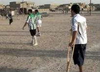 War couldn't cut short injured Iraqi's football dream