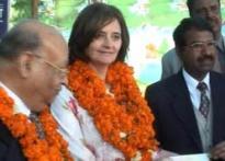 Ex-British PM's wife Cherie enjoys Lohri function