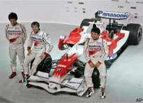 Toyota's Schumacher replacement burns up the tracks
