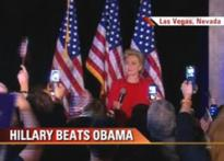 Hillary finishes ahead of Obama in Nevada polls