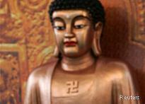 Ad shows Pratibha, Nitish 'above' Buddha, monks irked
