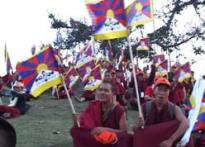 Tibetan protestors assemble at McLeodganj