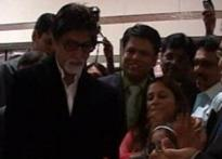 Big B inaugurates the heart wing of a hospital