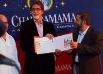 Amitabh Bachchan on a comic strip run