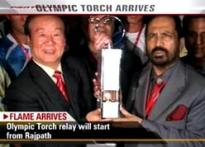 Olympic flame reaches Delhi amid protests | </a><a href=