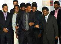 Chennai Superkings off the field, on the ramp