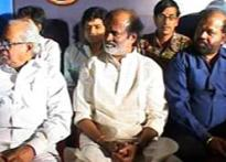 Rajinikanth unveils the music of <i>Kuselan</i> in Chennai