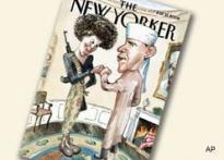 Magazine draws Obama as Muslim, wife as terrorist