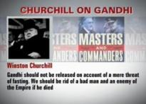 Gandhi turned great for Churchill only after death