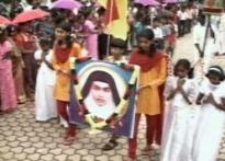 Celebrations in Saint Alphonsa's village in Kerala