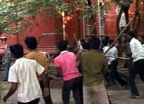 Chennai college campus turns battlefield, cops watch