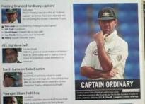 Australian media slams Ponting for series loss