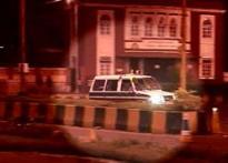 Watch: Terrorists take over police van, fire on roads
