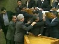 Mexican state representatives come to blows in office