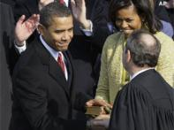 President Obama takes presidential oath again