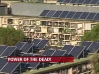 Solar panels on graves give Spanish town green energy