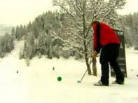 Golf's new form, snow replaces the green grass