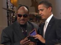 Obama magic: Lifetime achievement award for Stevie