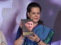 Sonia releases Late Madhavrao Scindia's biography