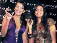 Neha, Mugdha endorse <i>Playboy</i> perfumes in India