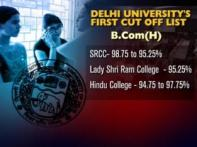 Delhi University releases first cut off list