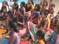 Students sing <i>raag Malhar</i> to please rain Gods