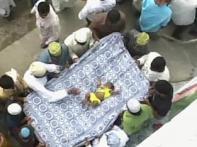 Hundreds of kids tossed down shrine in bizarre ritual