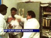 Watch: Cong MP loses cool, slaps bank manager