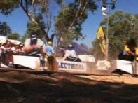 Watch: Australians race boat on mud