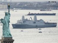 US crafts ship from salvaged steel of WTC towers