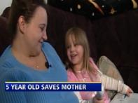 Watch: Five-year-old's wit saves mom's life