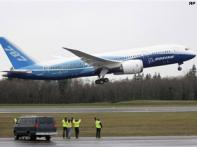 And lift off! Boeing 787 jetliner takes to the skies