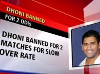 Dhoni banned from 2 ODIs, Sehwag to lead India