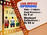 <i>3 idiots</i> rakes Rs 93 cr from worldwide release