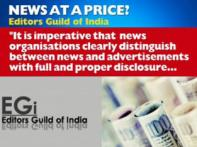 Editors Guild of India against sale of news