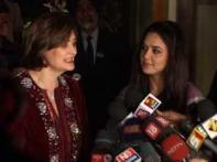 Cherie Blair, Preity Zinta celebrate <i>Lohri</i> together