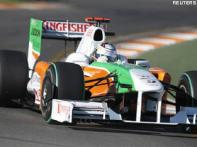 Force India fourth quickest in F1 testing