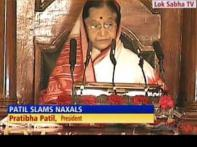 President attacks Naxals in her speech