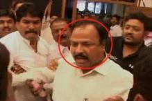 Maharashtra minister kicks man over ticket