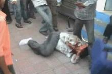 Mob of train passengers thrashes official