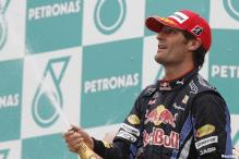 Webber fastest in last Chinese GP practice