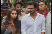 Sania and Shoaib talk to the media