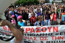 Protests in Greece against austerity measures