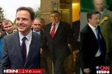 UK polls talk: Conservatives meet Lib Dems