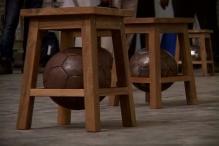 Artist inspires footballers through exhibition