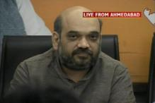 Amit Shah surfaces, slams CBI chargesheet