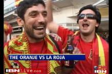Spain, Dutch fans confident ahead of final